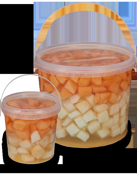 Eimer mit Honig- & Zuckermelonenmix