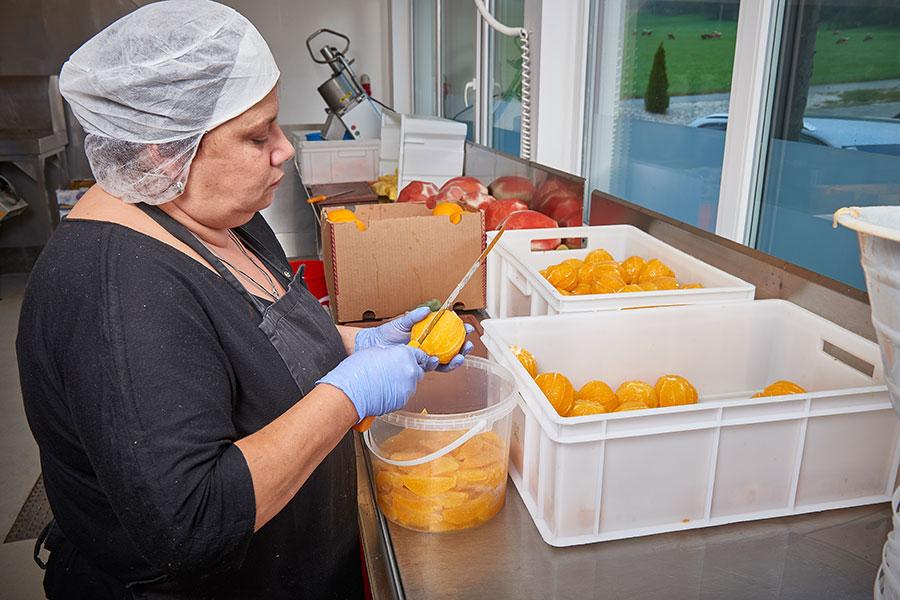 Herstellung von Orangenfilet